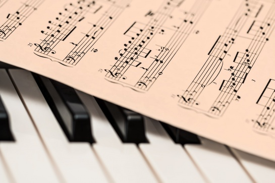 Music notation for duduk and piano